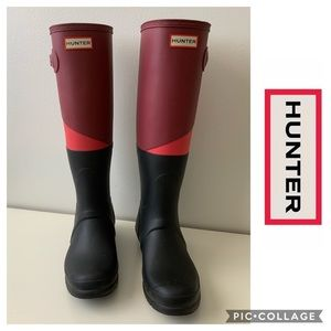 Hunter Boots Rain Slender Style Limited Edition 8